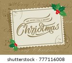 merry christmas and happy new... | Shutterstock .eps vector #777116008