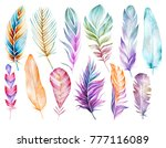 large colorful set of bird...   Shutterstock . vector #777116089