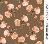 seamless pattern of floral... | Shutterstock .eps vector #777117190
