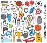vector hand drawn doodle sport... | Shutterstock .eps vector #777119638