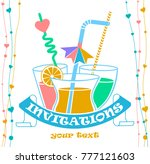 cocktail party invitation... | Shutterstock .eps vector #777121603