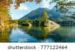 a wonderful calm sunny morning... | Shutterstock . vector #777122464