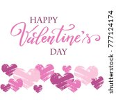 background for valentine s day  ... | Shutterstock .eps vector #777124174