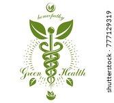 pharmacy caduceus icon  vector... | Shutterstock .eps vector #777129319