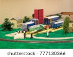 toy railway with various... | Shutterstock . vector #777130366