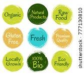 fresh  raw food  eco friendly ... | Shutterstock .eps vector #777130810