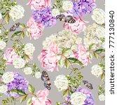 beautiful watercolor pattern... | Shutterstock . vector #777130840