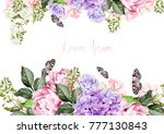 beautiful  wedding card ... | Shutterstock . vector #777130843