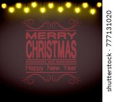 christmas background. brown... | Shutterstock .eps vector #777131020