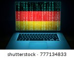 germany security system. laptop ... | Shutterstock . vector #777134833
