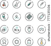 line vector icon set   disabled ... | Shutterstock .eps vector #777135106