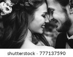 very emotional black and white...   Shutterstock . vector #777137590