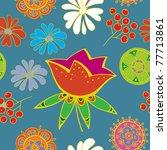 summer floral seamless pattern | Shutterstock .eps vector #77713861