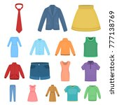 different kinds of clothes... | Shutterstock .eps vector #777138769