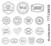 different label outline icons... | Shutterstock .eps vector #777138838