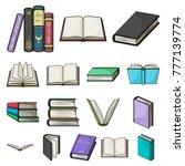 book in the binding cartoon... | Shutterstock .eps vector #777139774