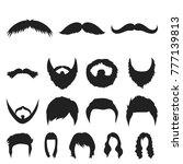 mustache and beard  hairstyles... | Shutterstock .eps vector #777139813