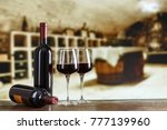 wine cellar with wine bottle... | Shutterstock . vector #777139960