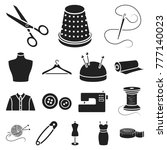 atelier and sewing black icons... | Shutterstock .eps vector #777140023