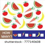 mathematical game for preschool ... | Shutterstock .eps vector #777140608