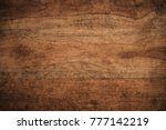 old grunge dark textured wooden ... | Shutterstock . vector #777142219