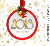 vector 2018 happy new year... | Shutterstock .eps vector #777142474