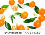 ripe orange tangerine  mandarin ... | Shutterstock . vector #777144169