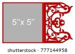 laser cut flower template for... | Shutterstock .eps vector #777144958