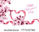 happy valentine's day. pink... | Shutterstock .eps vector #777145780