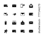 mail icons. flat simple icon  ...   Shutterstock . vector #777146173