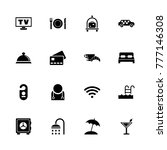 hotel icons. flat simple icon   ... | Shutterstock . vector #777146308
