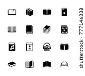 books icons. flat simple icon   ...   Shutterstock . vector #777146338