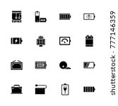 battery icons. flat simple icon ... | Shutterstock . vector #777146359