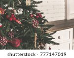 christmas living room with... | Shutterstock . vector #777147019