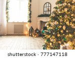 christmas living room with a... | Shutterstock . vector #777147118
