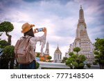 asian woman tourists are taking ...   Shutterstock . vector #777148504