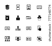 online education icons. flat... | Shutterstock . vector #777148774