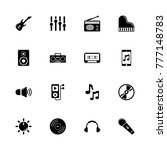 music icons. flat simple icon   ... | Shutterstock . vector #777148783