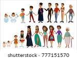 people life stages. african man ...   Shutterstock .eps vector #777151570