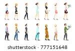 woman professions set. teacher... | Shutterstock .eps vector #777151648