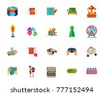 games and hobbies icon set   Shutterstock .eps vector #777152494