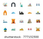 attractions icon set | Shutterstock .eps vector #777152500