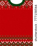 ugly sweater merry christmas... | Shutterstock . vector #777158566