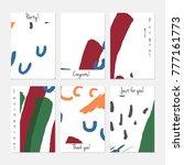 hand drawn creative universal... | Shutterstock .eps vector #777161773
