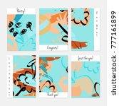 hand drawn creative universal... | Shutterstock .eps vector #777161899