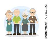 senior people set. grandfathers ...   Shutterstock .eps vector #777162823