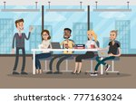 people at conference. business... | Shutterstock .eps vector #777163024