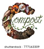compost concept and composting... | Shutterstock . vector #777163309