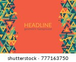 trendy horizontal geometric... | Shutterstock .eps vector #777163750