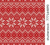 traditional fair isle style... | Shutterstock .eps vector #777164890